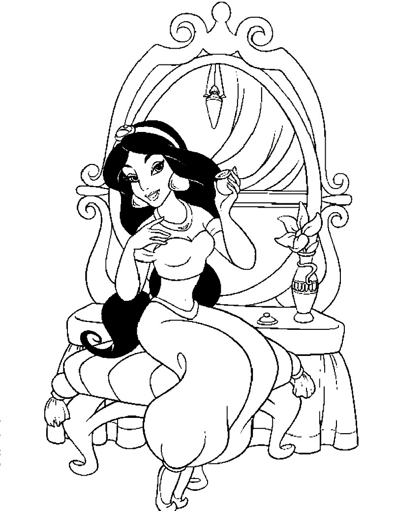 Jasmine Coloring Pages To Print Coloring Page