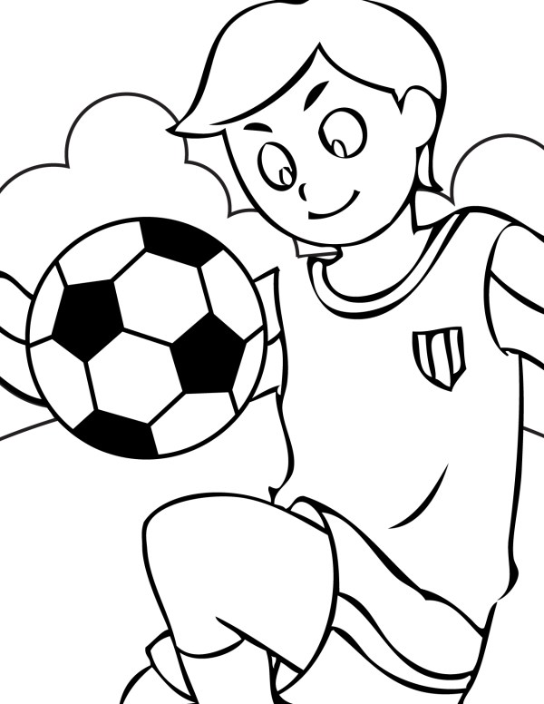 soccer coloring page # 3