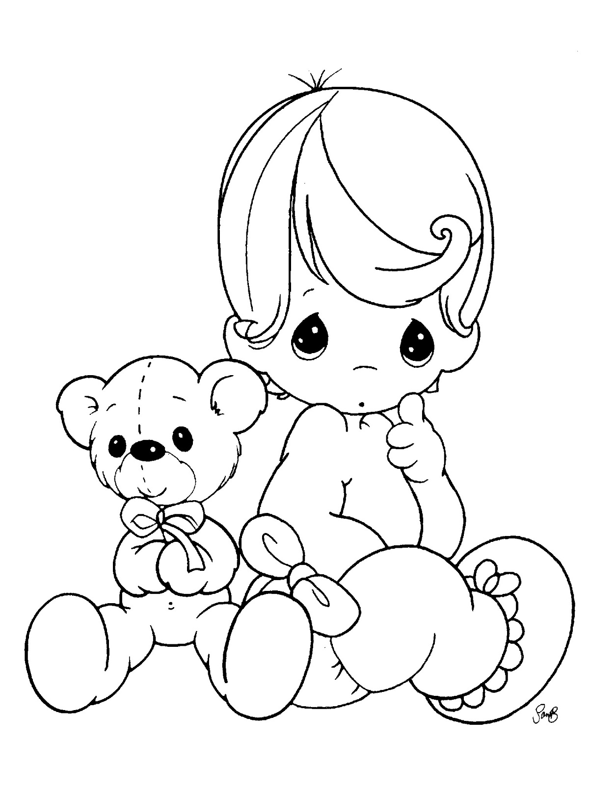 Free Printable Baby Coloring Pages For Kids | colouring pages for toddlers