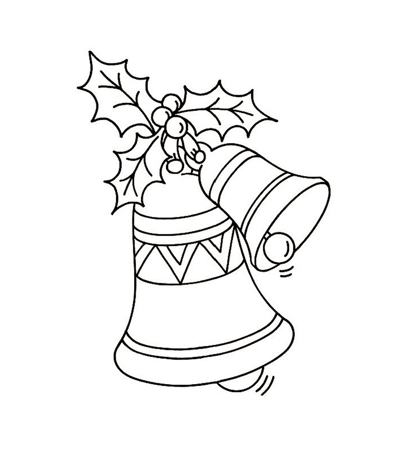 Free Printable Bell Coloring Pages For Kids | christmas colouring pages