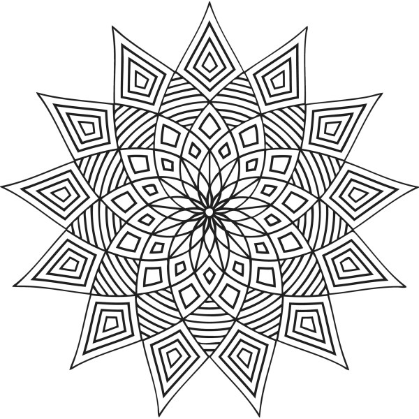 geometric design coloring pages # 3