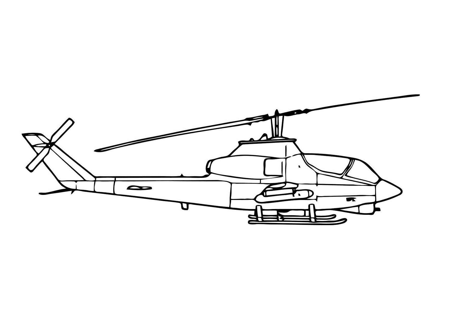 Coloring Pages For Helicopter Printable