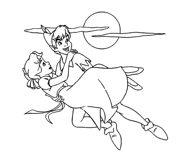peter pan coloring page # 4