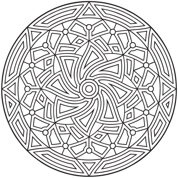 geometric coloring page # 6