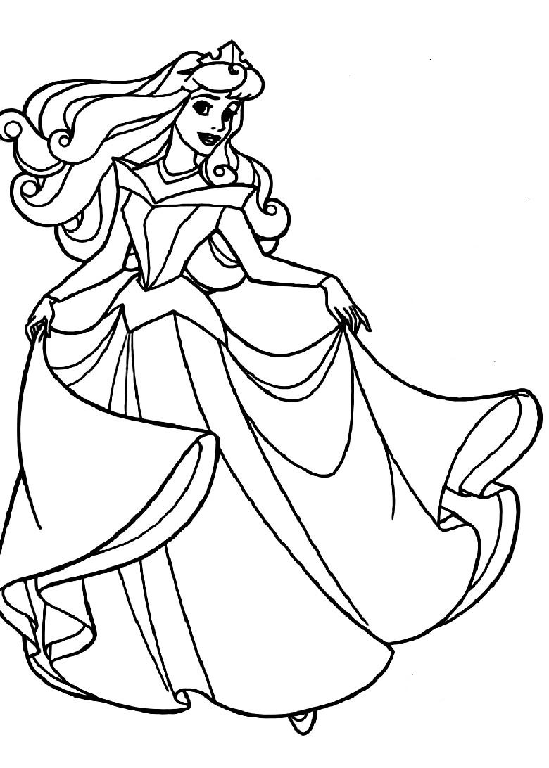 Free Printable Sleeping Beauty Coloring Pages For Kids | printable colouring pages