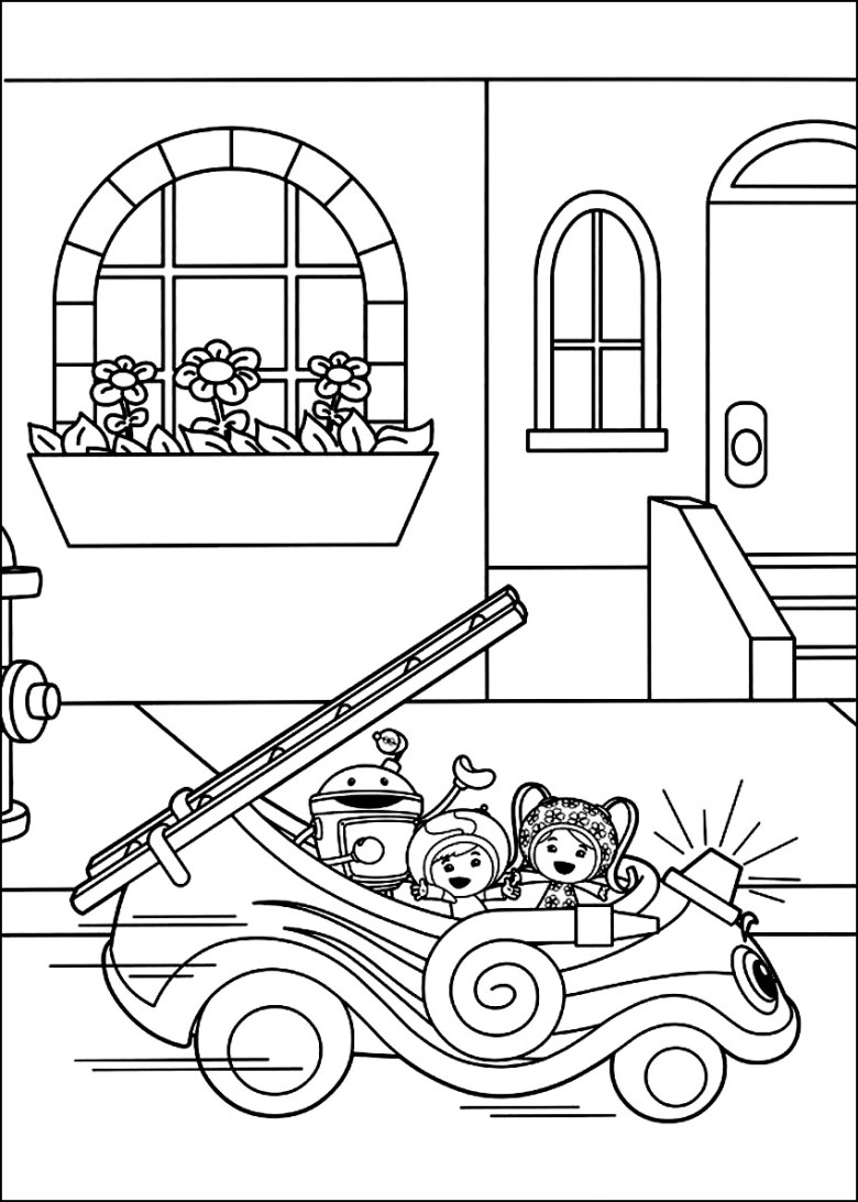 free printable team umizoomi coloring pages - architecture modern idea •