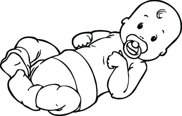 coloring pages of babies # 4