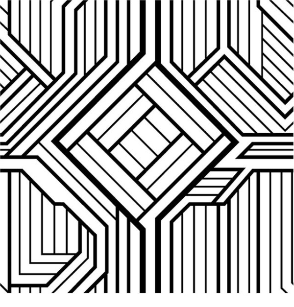 geometric design coloring pages # 4