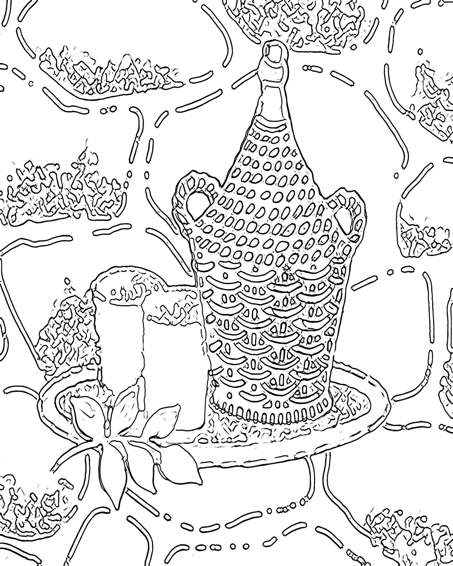 Keep Out Sine Coloring Page