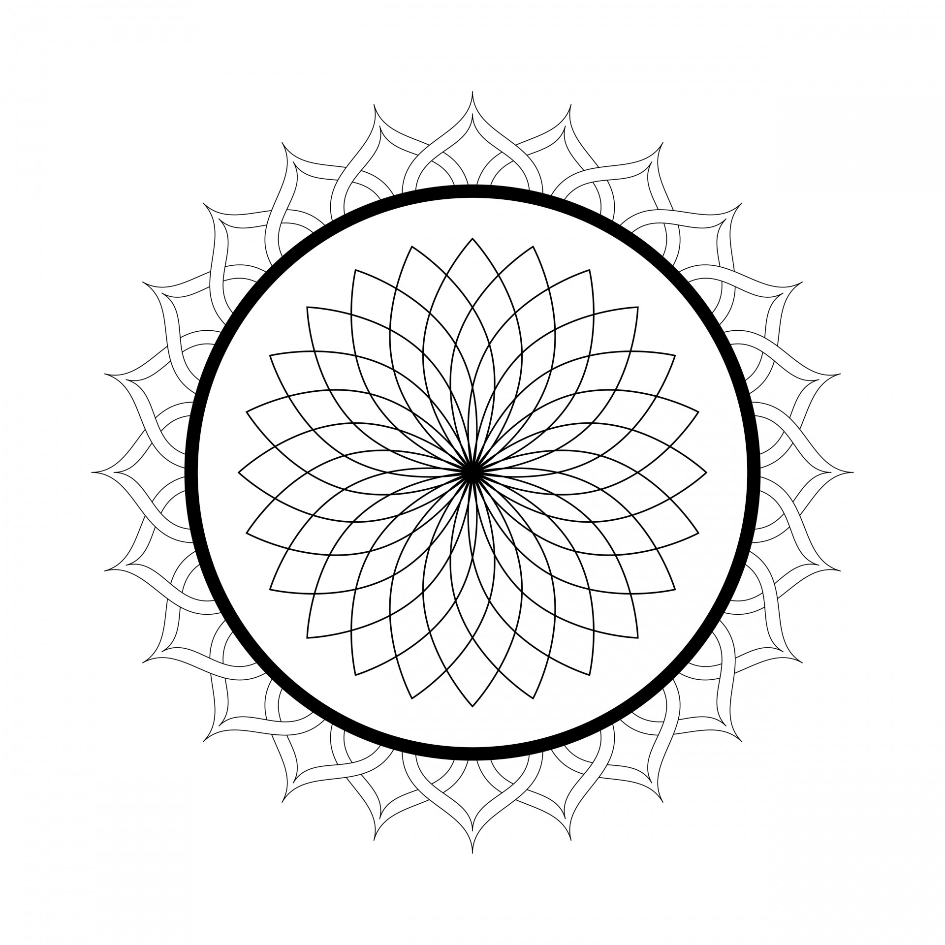 Free Printable Mandala Coloring Pages For Adults - Best ... | free mandala colouring pages for adults