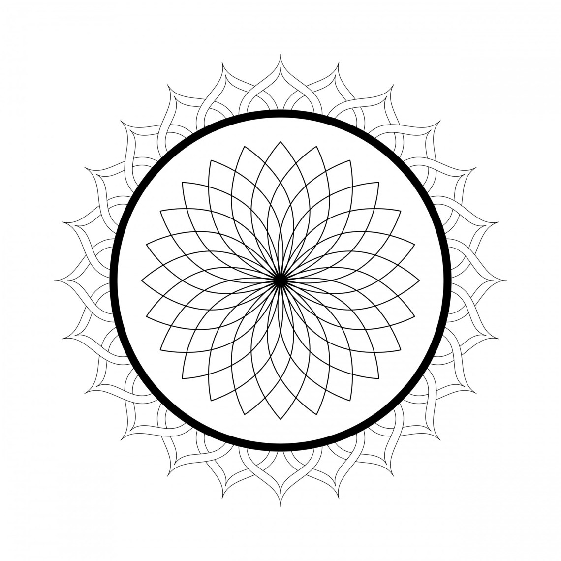 Free Printable Mandala Coloring Pages For Adults - Best ... | free printable mandala coloring pages for adults easy