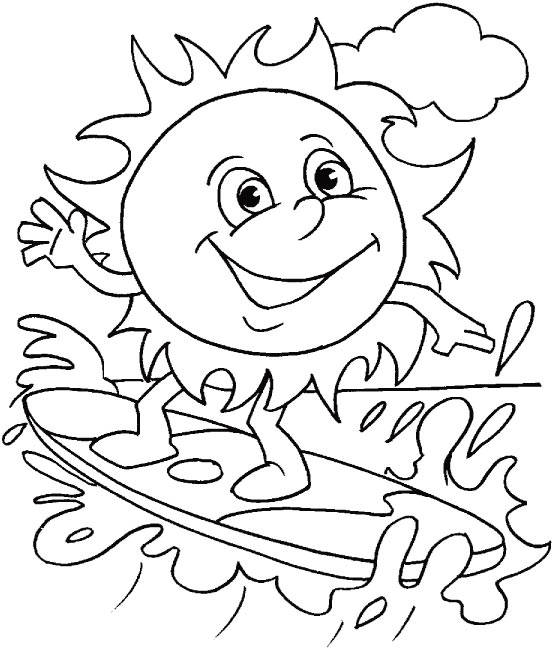 summer coloring pages printable # 23