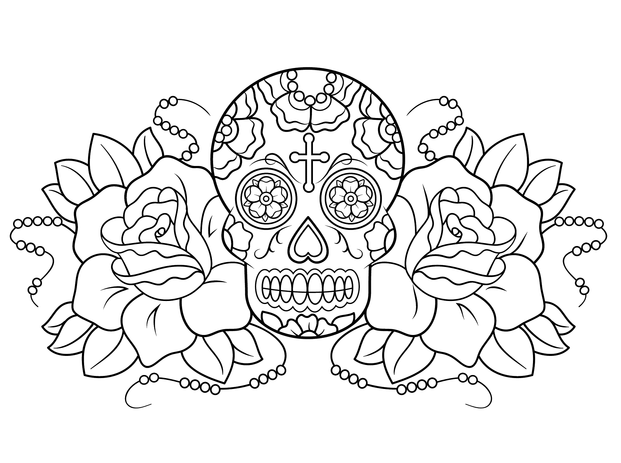Coloring Pages Day Dead
