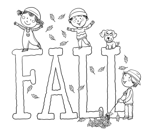 fall coloring pages printable free # 24