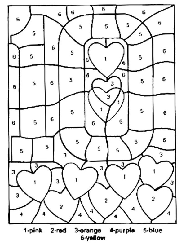 coloring pages color by number # 50