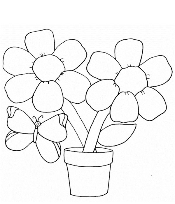 printable coloring pages of flowers # 12