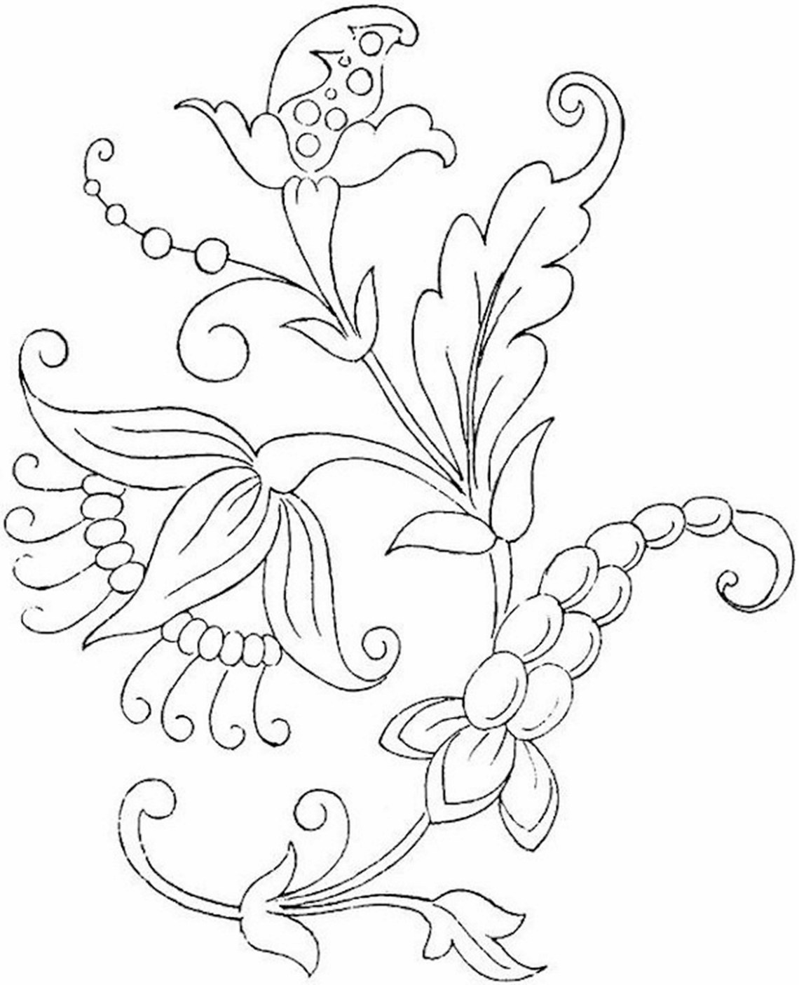 Free Printable Flower Coloring Pages For Kids - Best ... | colouring pages flowers printable