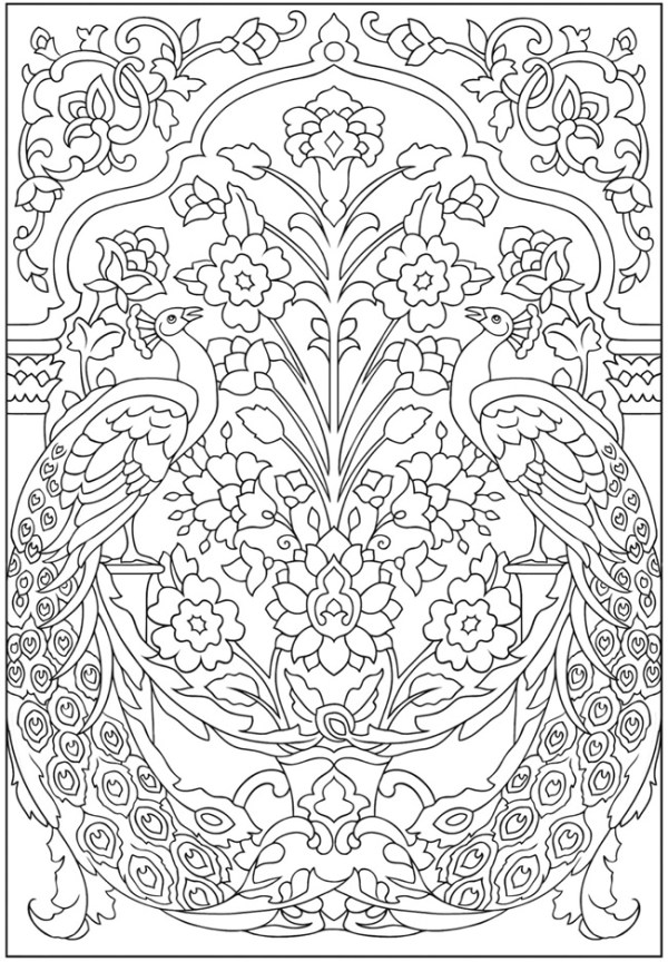 hard coloring pages for adults # 59