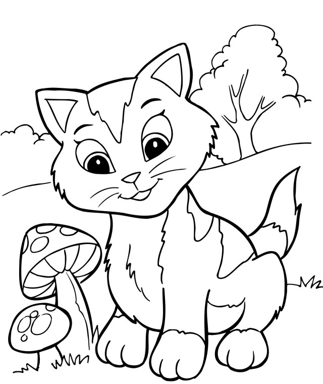 Free Printable Kitten Coloring Pages For Kids - Best Coloring