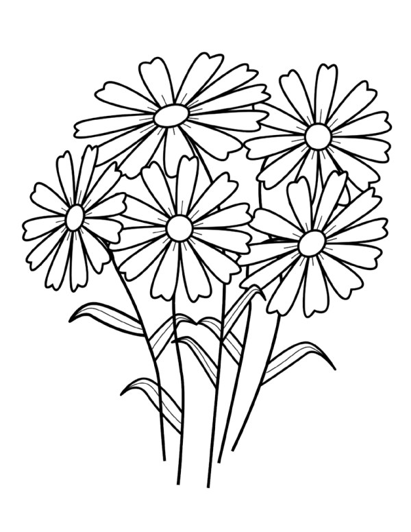 free coloring pages flowers # 2