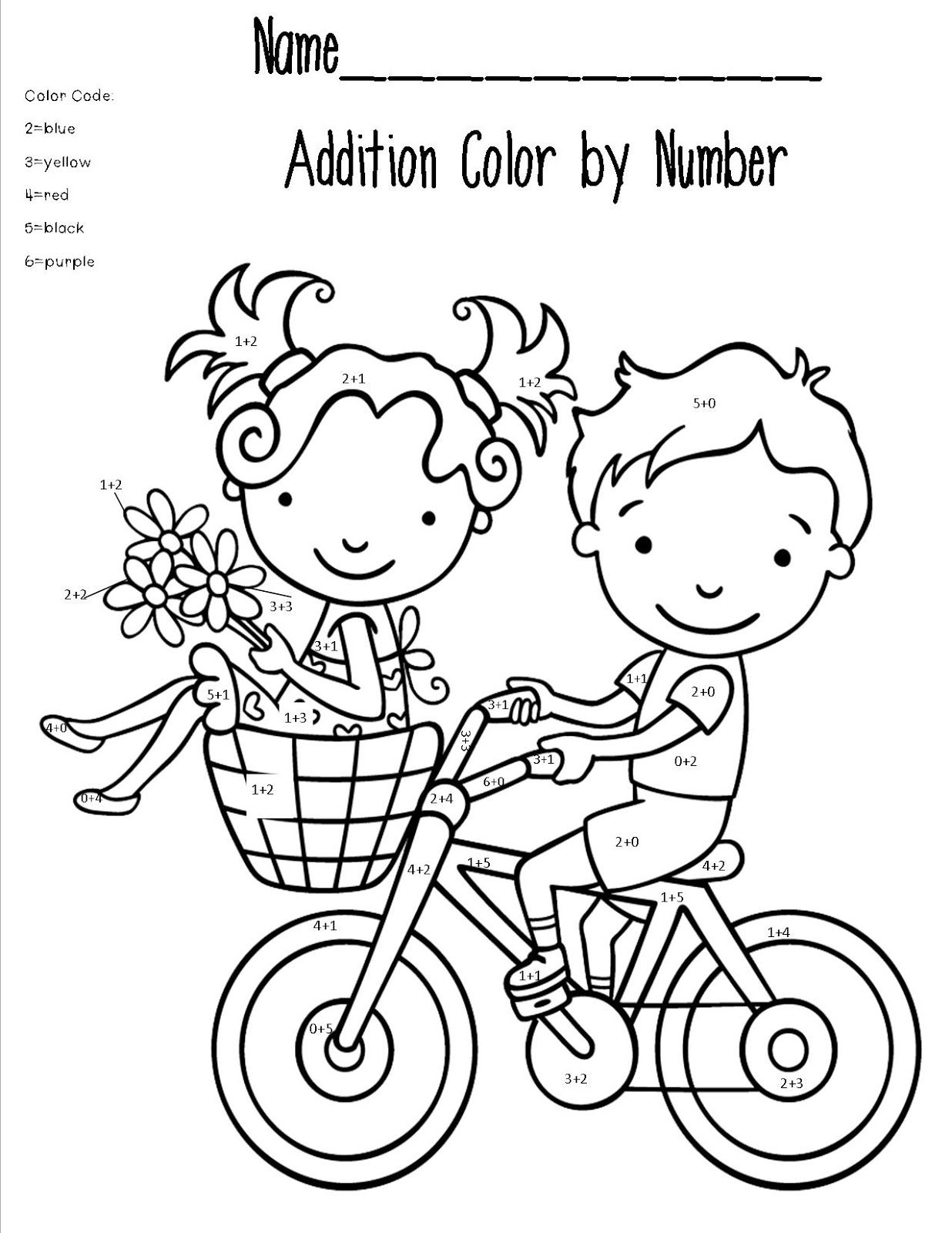Math Coloring Worksheet