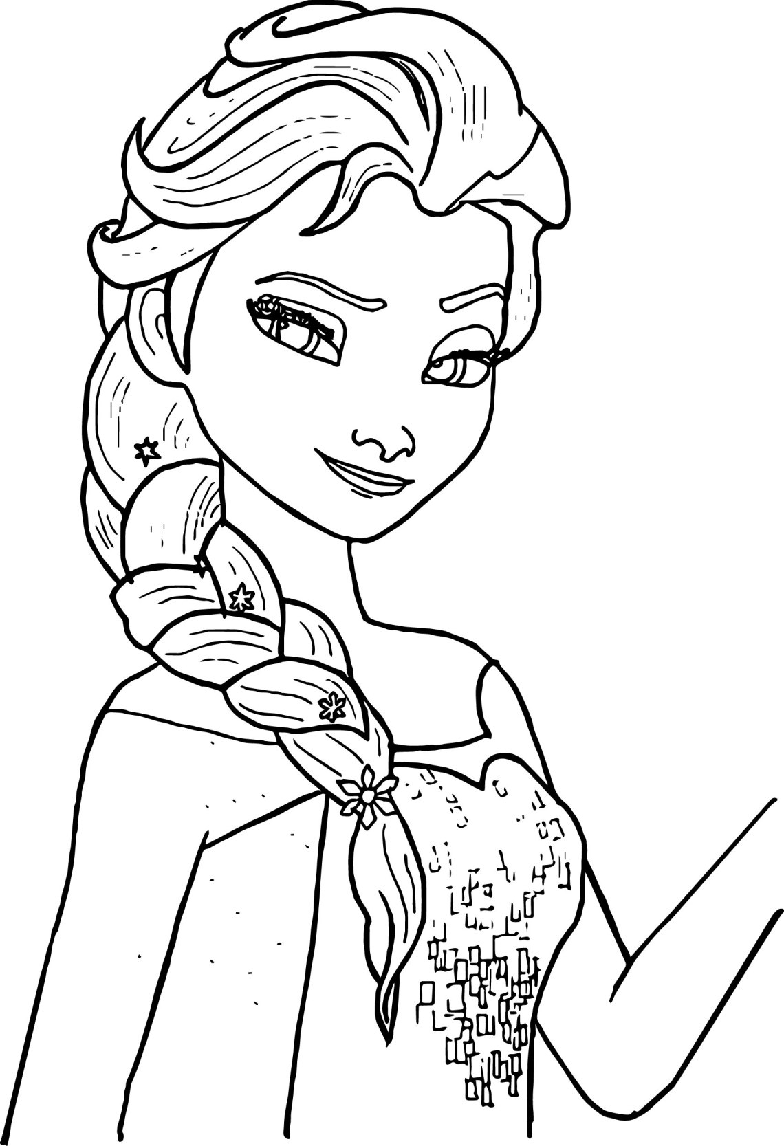 Free Printable Elsa Coloring Pages for Kids - Best ... | printable coloring pages for kids.