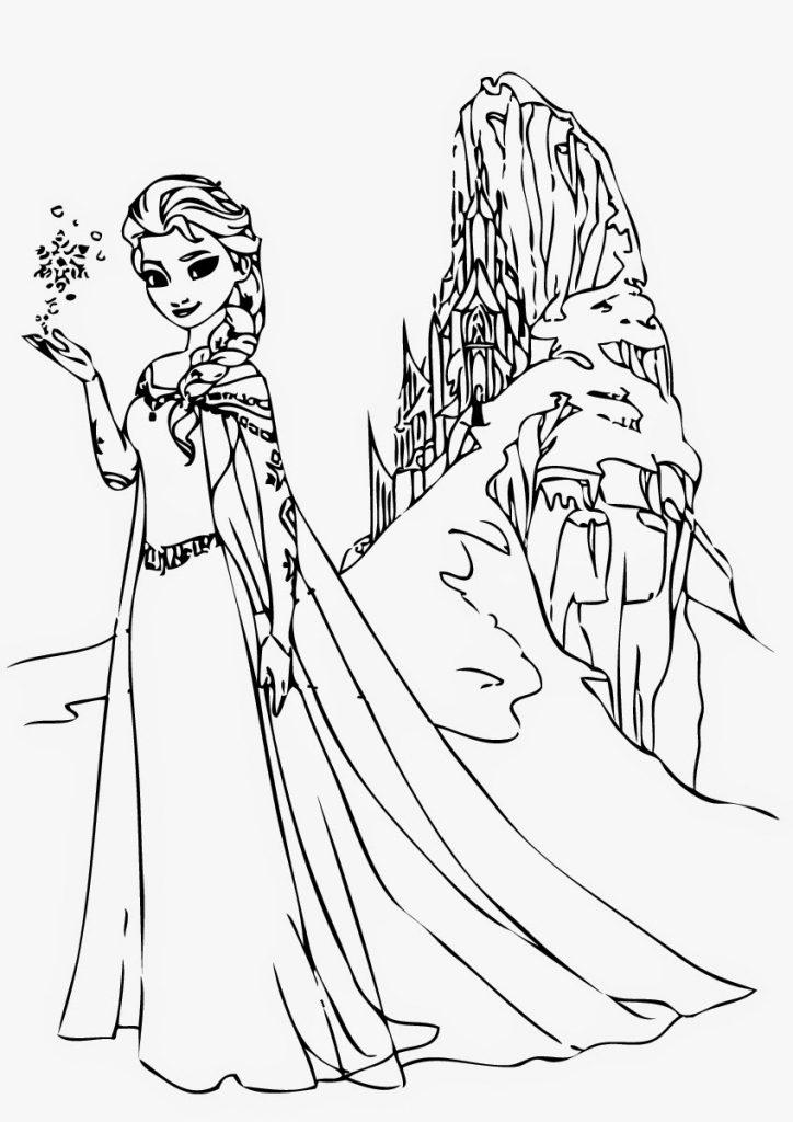 Coloring Pictures Elsa Frozen