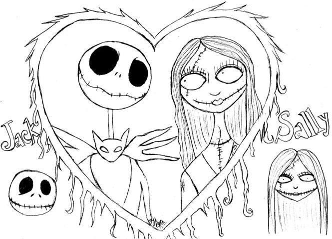 free printable nightmare before christmas coloring pages best - Jack Skellington Coloring Pages