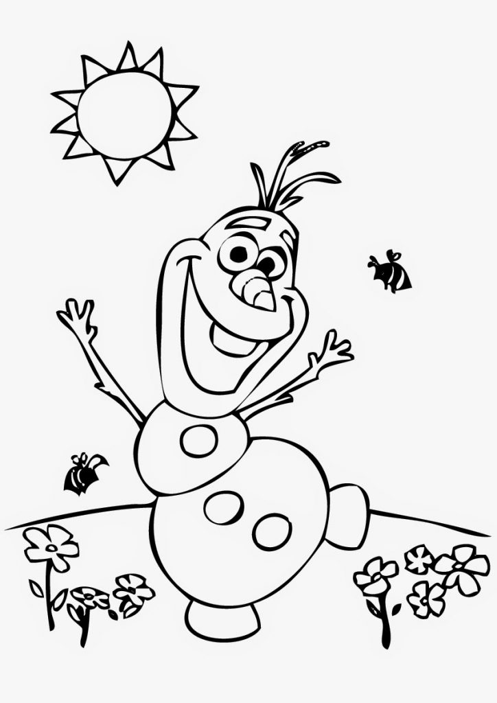 Frozens Olaf Coloring Pages - Best Coloring Pages For Kids | free colouring pages for toddlers