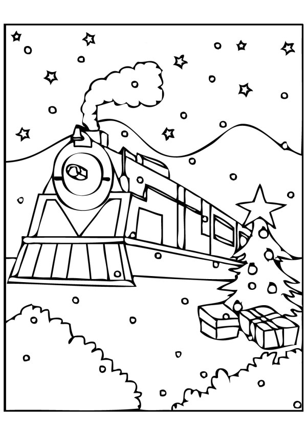 polar express coloring pages free # 0