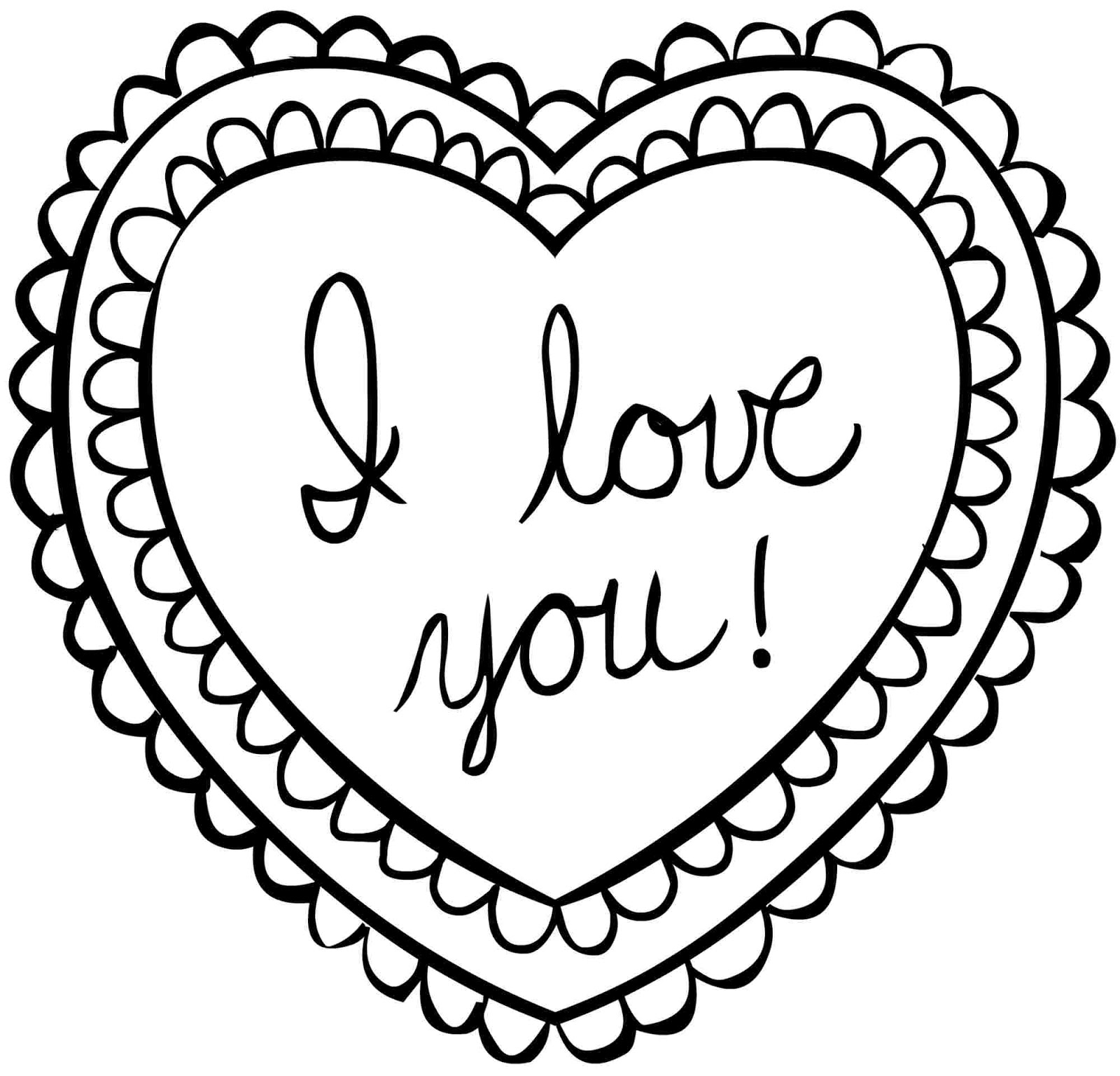 Valentine Coloring Pages For Preschoolers