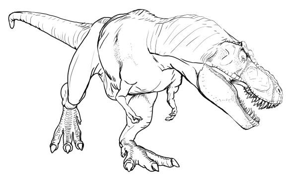tyrannosaurus rex coloring page # 3