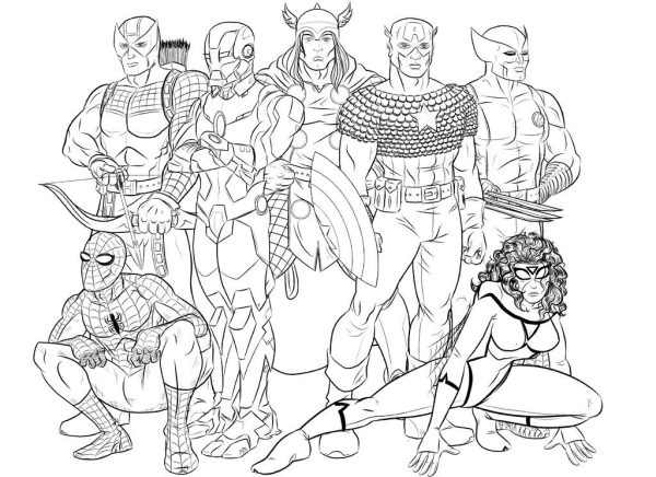 coloring pages avengers # 5
