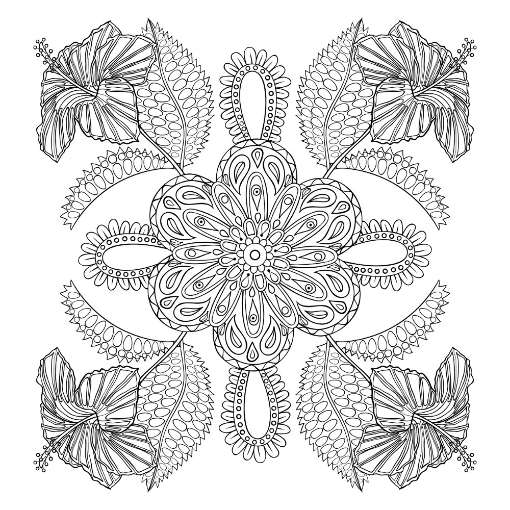 Flower Coloring Pages for Adults - Best Coloring Pages For ... | free printable coloring pages for adults flowers