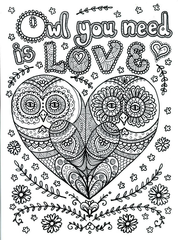 OWL Coloring Pages for Adults. Free Detailed Owl Coloring ...   colouring pages animals hard