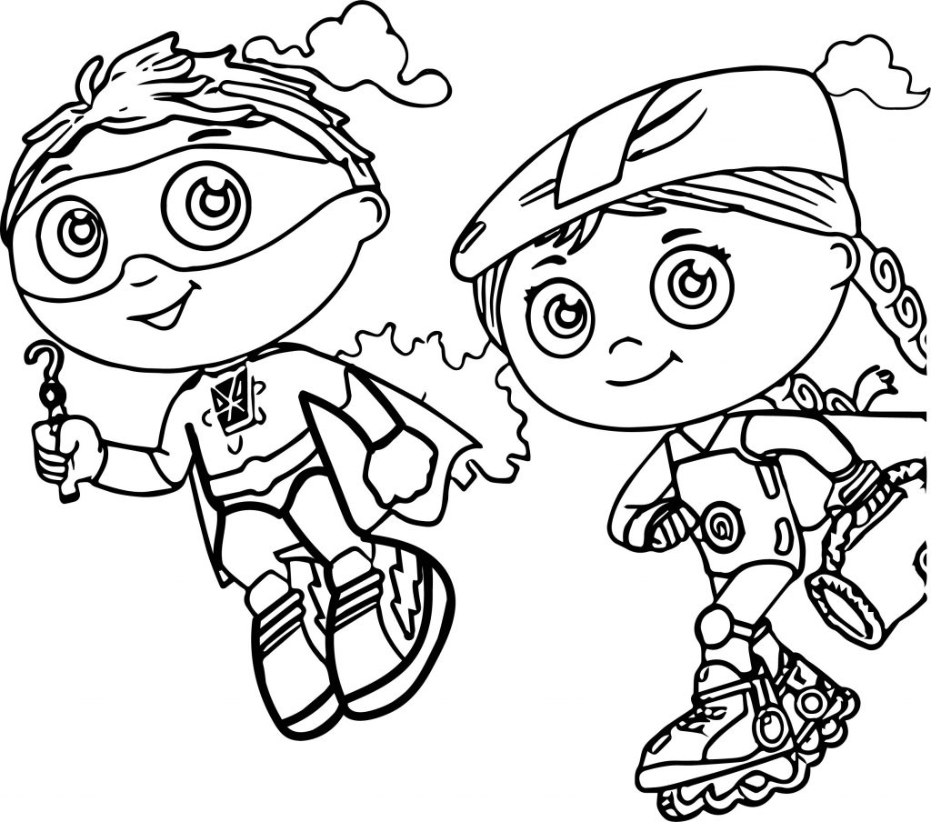 Super Why Guy Coloring Pages
