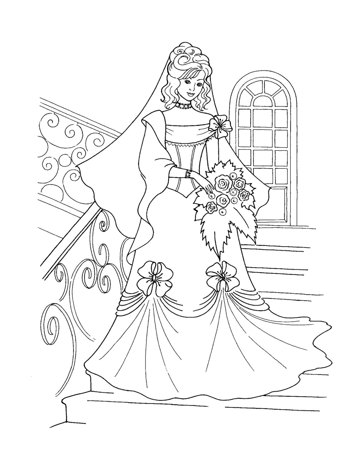 Winter Belle Beauty And Beast Coloring Pages