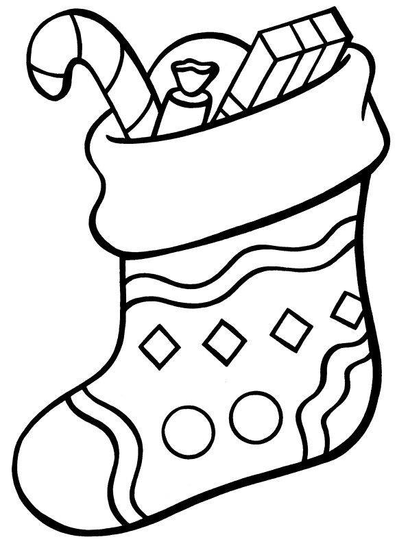 stocking coloring pages # 2
