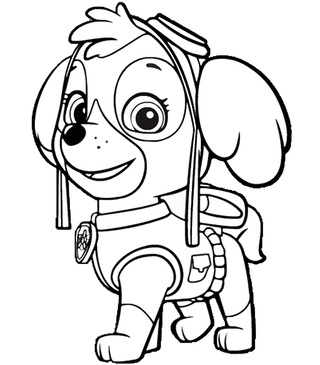 Toddler Paw Patrol Coloring Pages