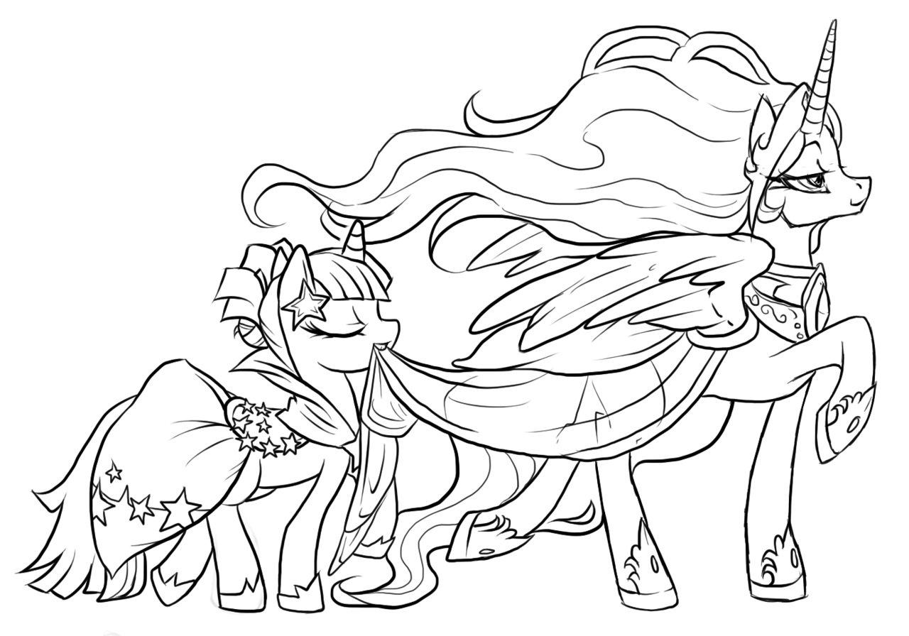 Gambar Mewarnai My Little Pony Princess Celestia