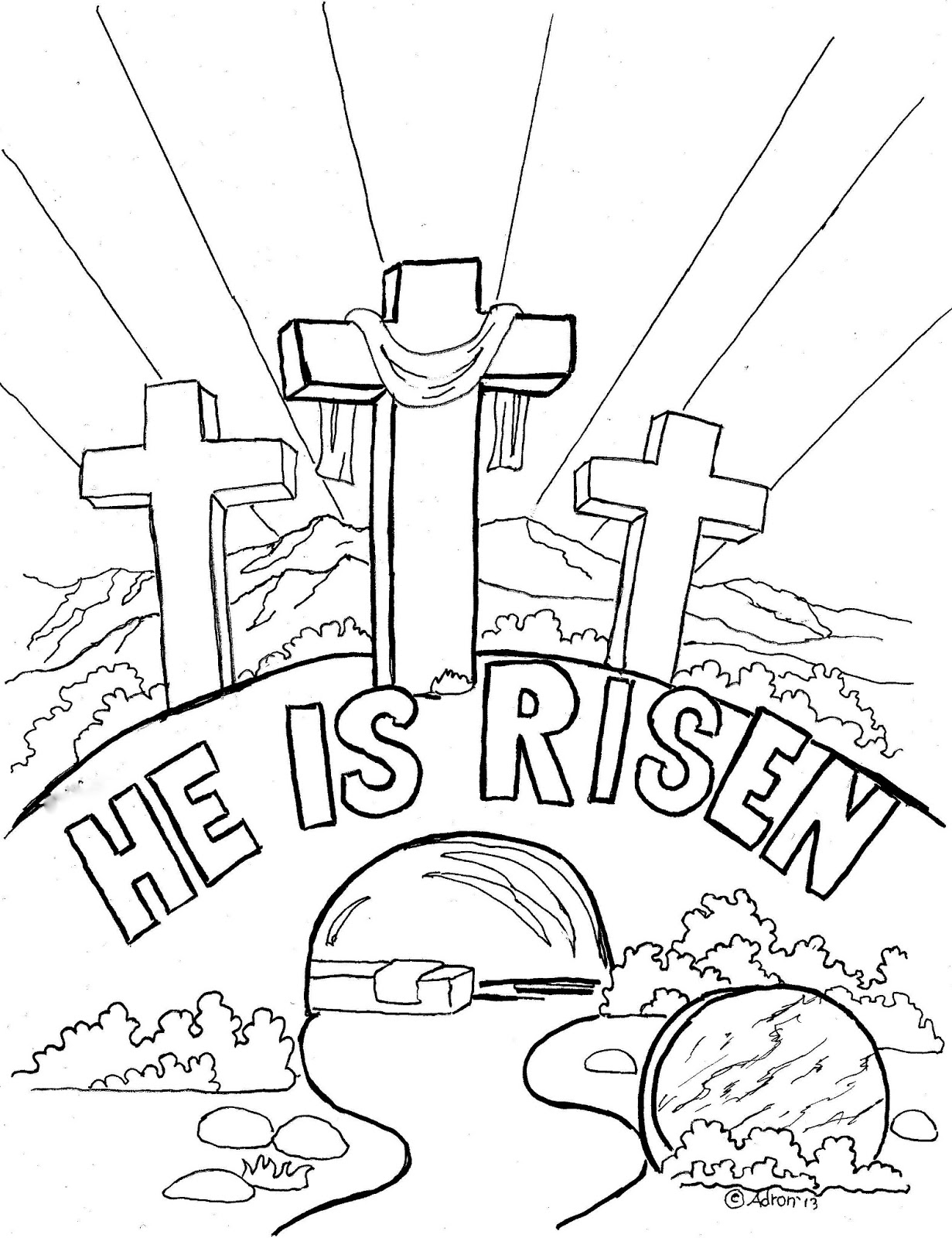 Religious Easter Coloring Pages - Best Coloring Pages For Kids | free printable religious coloring pages for easter
