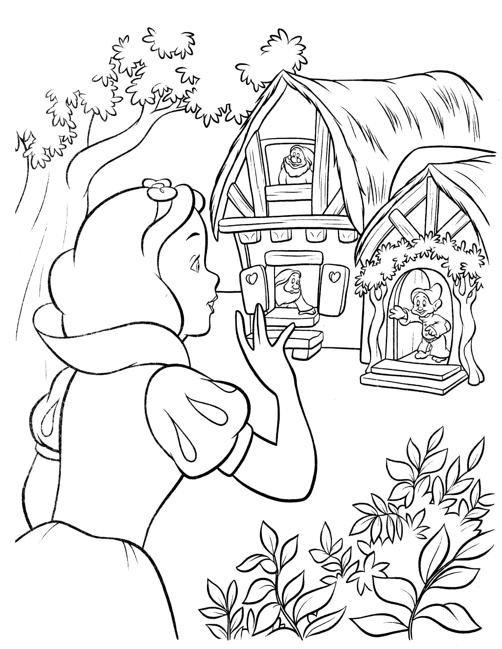 Snow White Coloring Worksheet