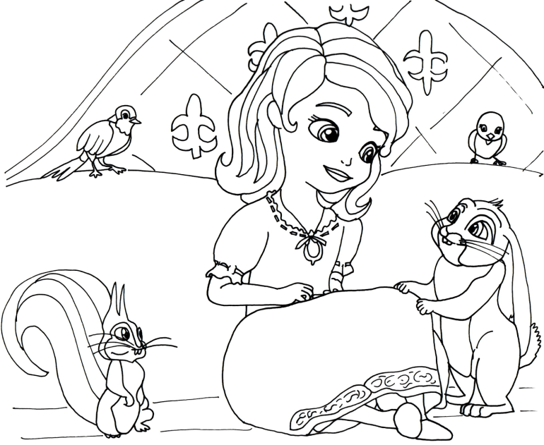 Sofia the First Coloring Pages - Best Coloring Pages For Kids | princess sofia coloring pages
