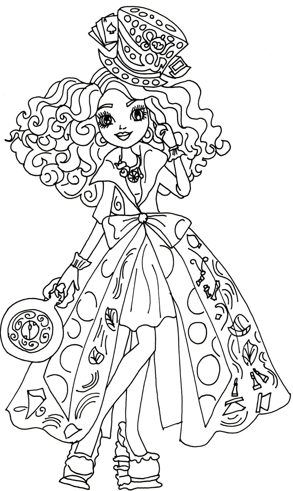 Ever After High Coloring Pages - Best Coloring Pages For Kids | free coloring pages printable