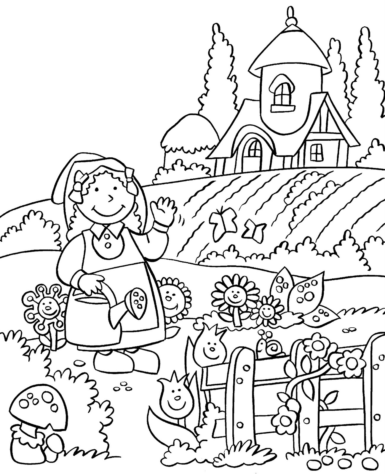 Compost Of Garden Coloring Pages