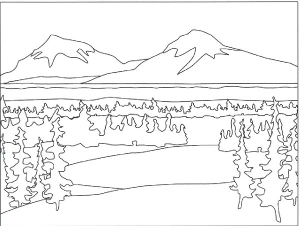 mountain coloring page # 9