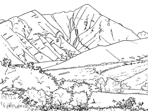 mountain coloring page # 0