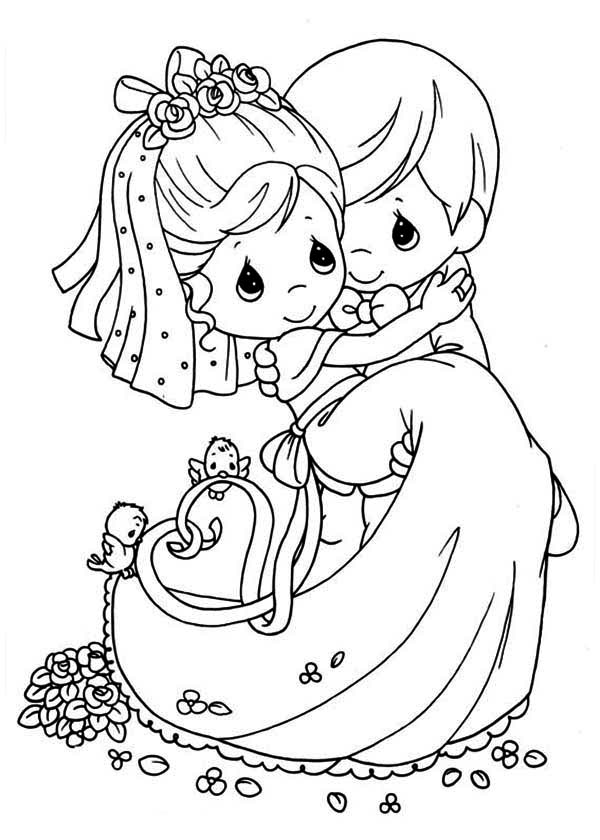 free wedding coloring pages # 2