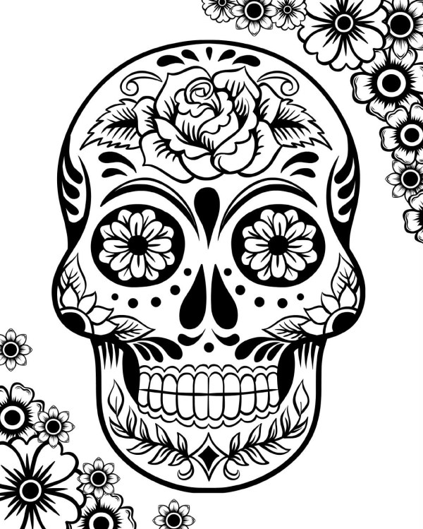 skulls coloring pages # 3