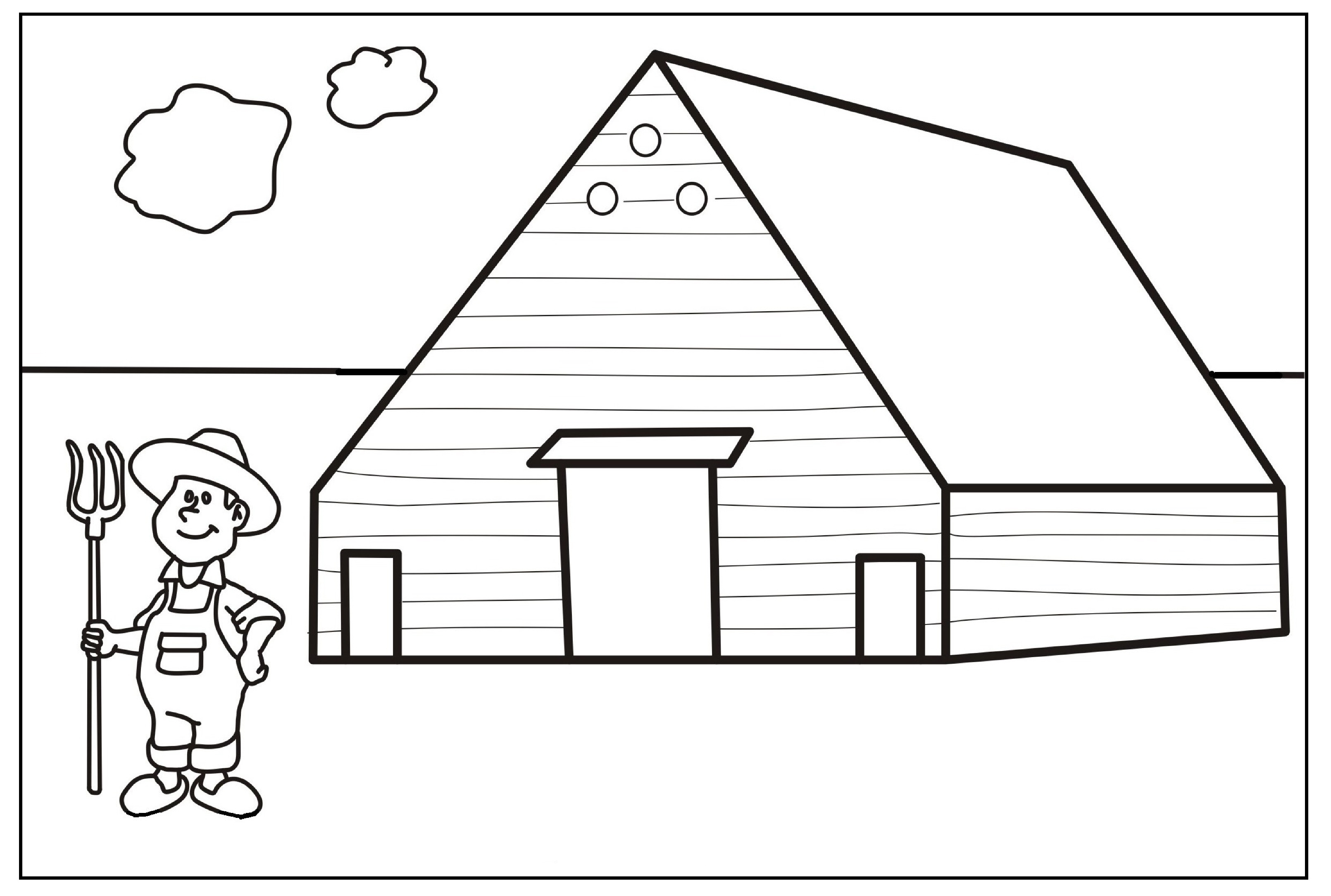 This Is Farm Animal Color Pages Coloring For Kids Sketch Coloring Page